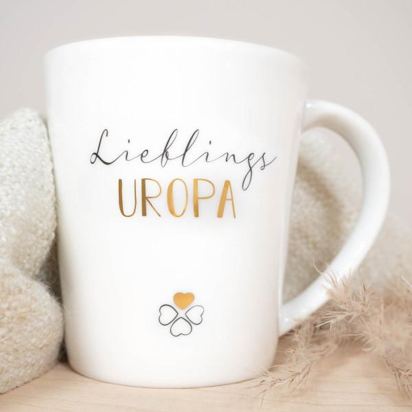 """Porzellan Becher """"Lieblings Uropa"""""""