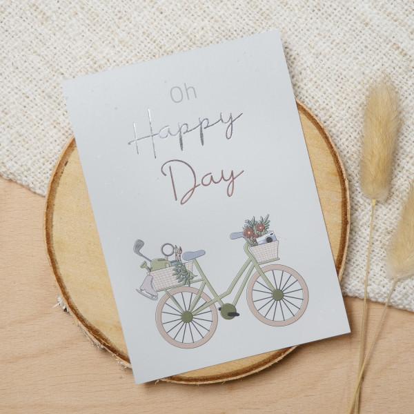 "Postkarte Silber ""Oh happy day"""