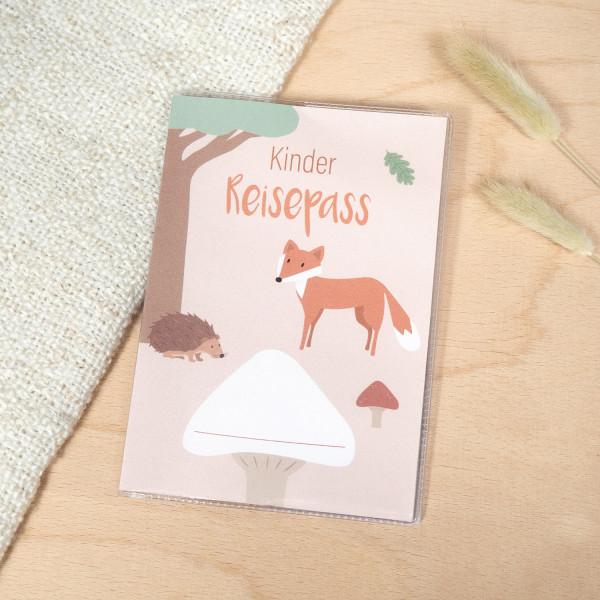 Kinder Reisepass Hülle Waldtiere