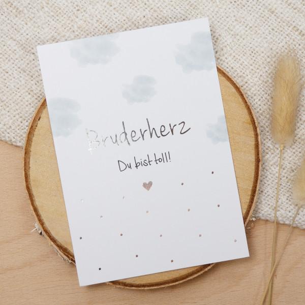 "Postkarte Silber ""Bruderherz"""
