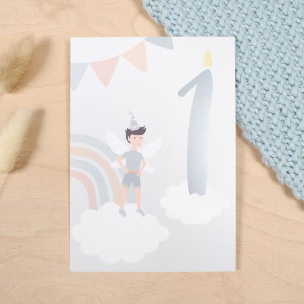 "Geburtstag Glückwunschkarte ""1"" - Elf"