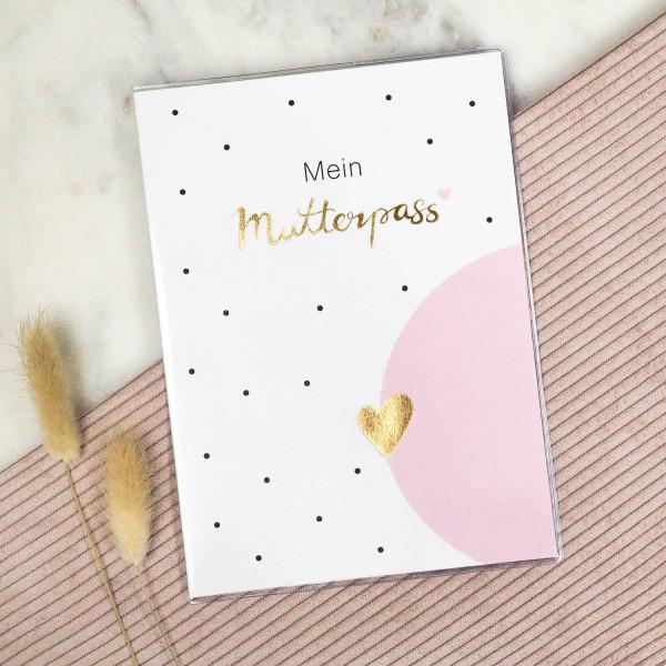 Mutterpass Hülle rosa gold