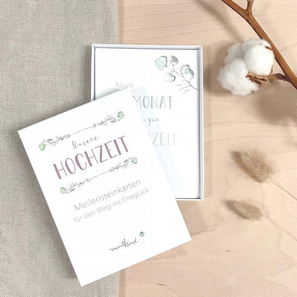 """Meilensteinkarten """"Unsere Hochzeit"""""""