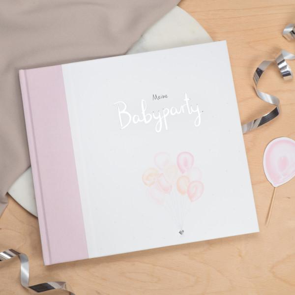 Gästebuch für die Babyparty rosa
