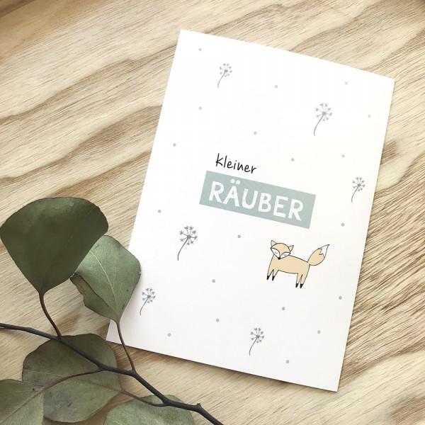 "Postkarte ""kleiner Räuber"""