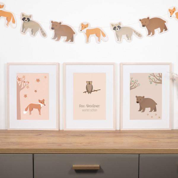 """Kinderzimmer Poster Set """"Wald"""""""