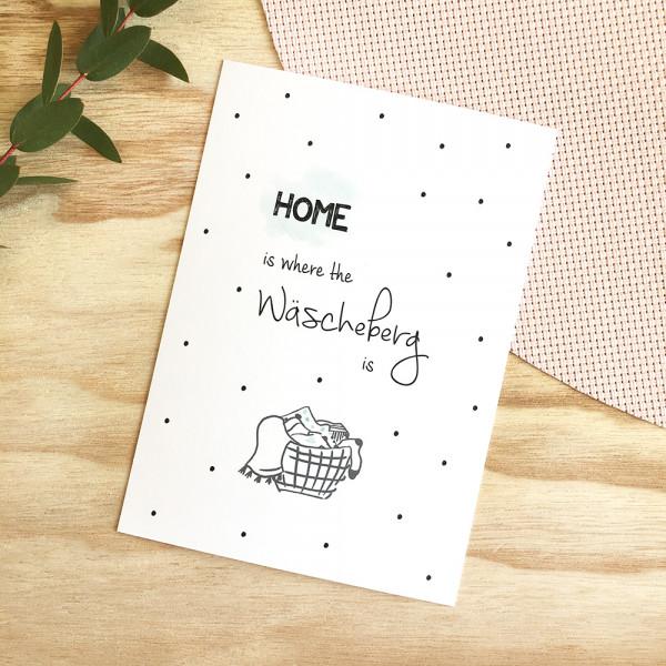 "Postkarte ""Home is where the Wäscheberg is"""