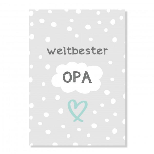"Postkarte ""weltbester Opa"""