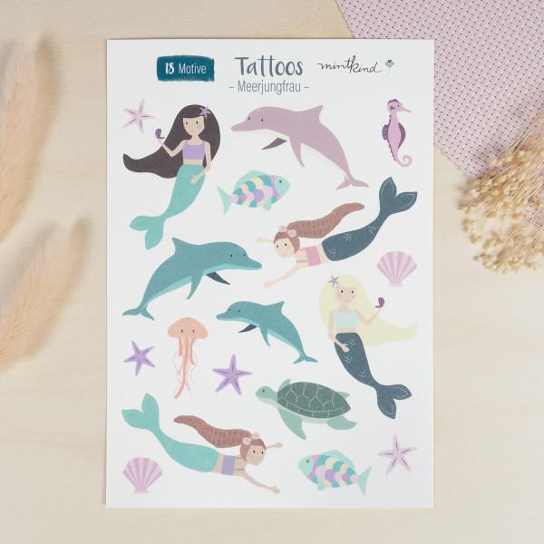 Tattoos für Kinder - Meerjungfrau