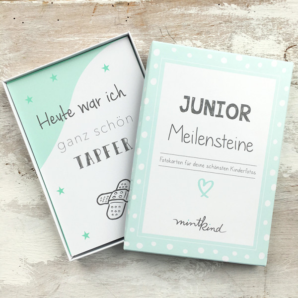 "Meilensteinkarten ""Junior"" - mint"