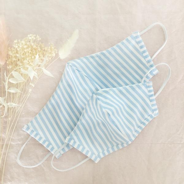 Masken Set für Eltern und Kind - Hellblau