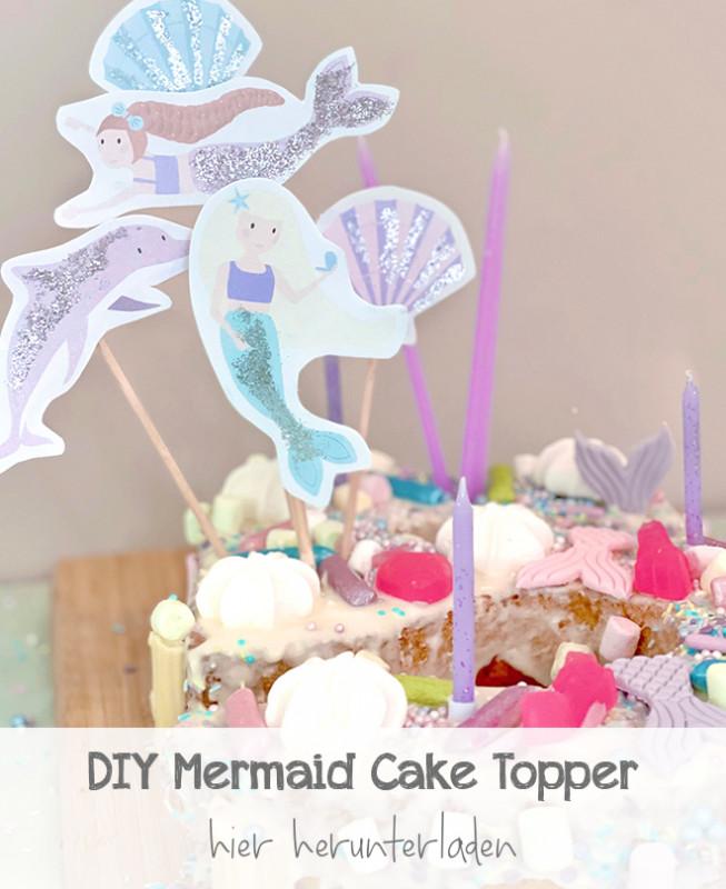 DIY Meerjungfrauen Cake Topper