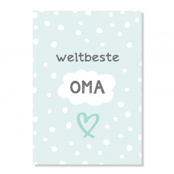 """Postkarte """"weltbeste Oma"""""""