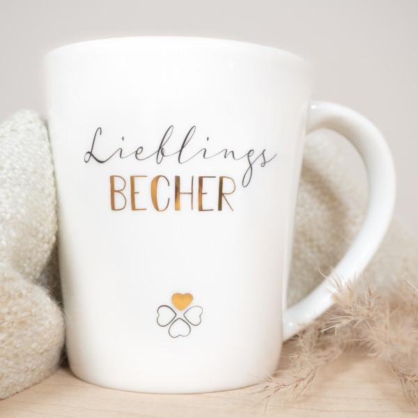 """Porzellan Becher """"Lieblingsbecher"""""""