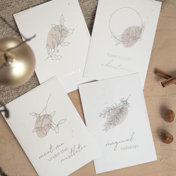 Postkarten zu Weihnachten Cover