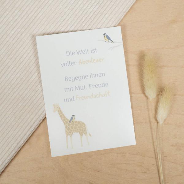 Postkarte Spruch Natur