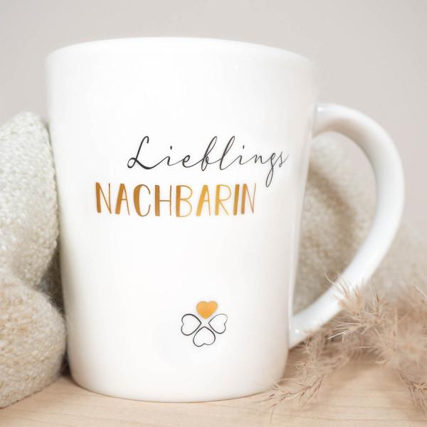 """Porzellan Becher """"Lieblings Nachbarin"""""""