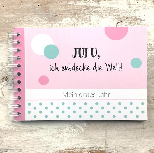 """Baby-Erinnerungsbuch """"Mein erstes Jahr"""" - rosa"""