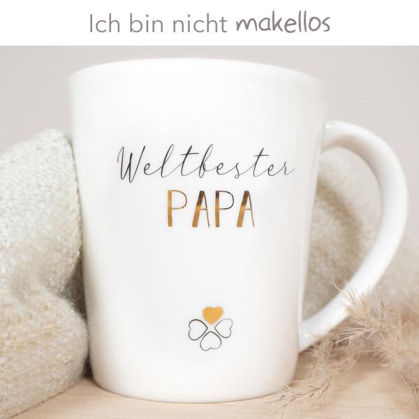 """Porzellan Becher """"Weltbester Papa"""" B-Ware"""
