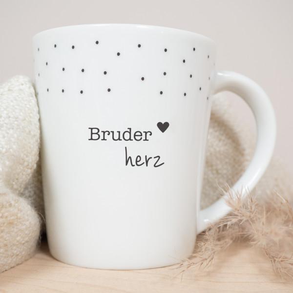 """Porzellan Becher """"Bruderherz"""""""