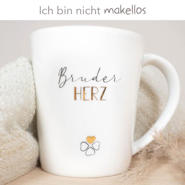 """Porzellan Becher """"Bruderherz"""" B-Ware"""