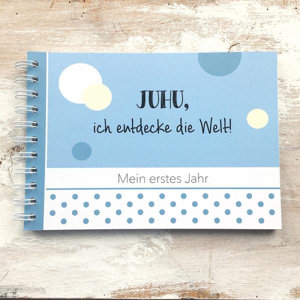 """Baby-Erinnerungsbuch """"Mein erstes Jahr"""" - blau"""