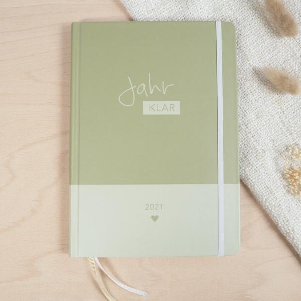 """""""Jahr Klar"""" Familienplaner 2021 - Olive Green"""