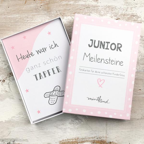 "Meilensteinkarten ""Junior"" - rosa"