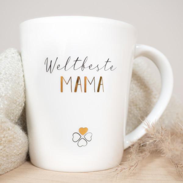 """Porzellan Becher """"Weltbeste Mama"""""""
