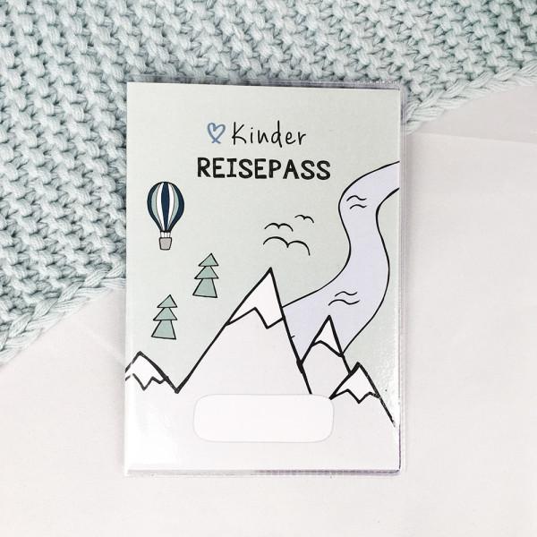 """Kinder Reisepass Hülle """"Berge"""""""