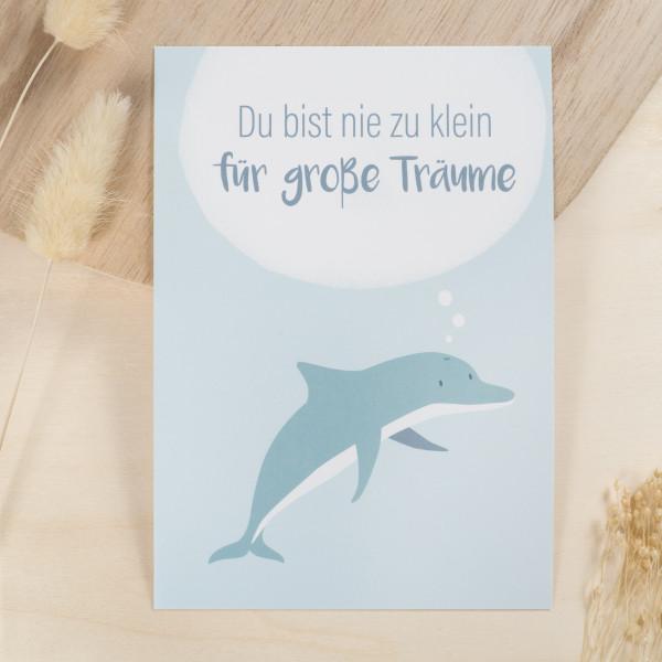 """Postkarte """"Du bist nie zu klein für große Träume"""""""