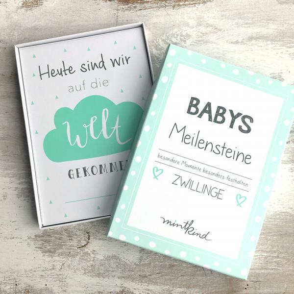 Baby Meilensteinkarten - Zwillinge