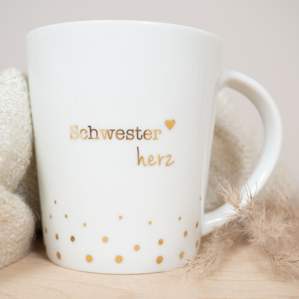 """Porzellan Becher """"Schwesterherz"""""""