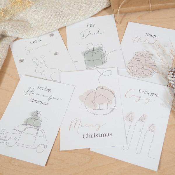 Postkarten Set Weihnachten