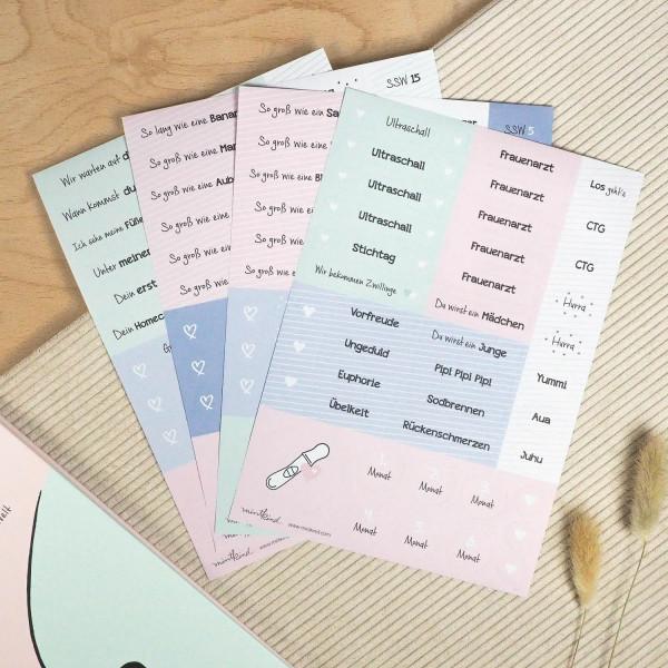 """Sticker Set """"Schwangerschaft"""""""