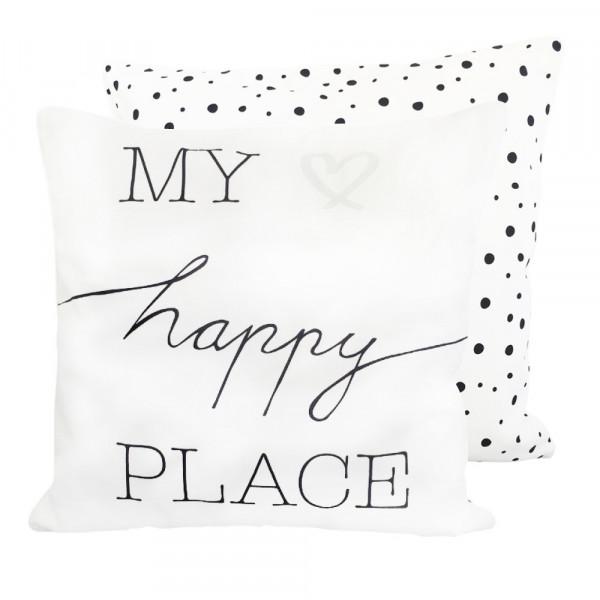 "Kissenhülle 40x40 ""My happy place"""