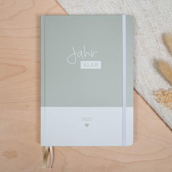 Jahr Klar Familienplaner 2022 - Cool Khaki
