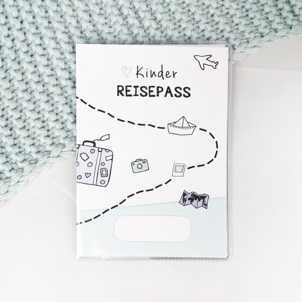 """Kinder Reisepass Hülle """"Weltentdecker"""""""