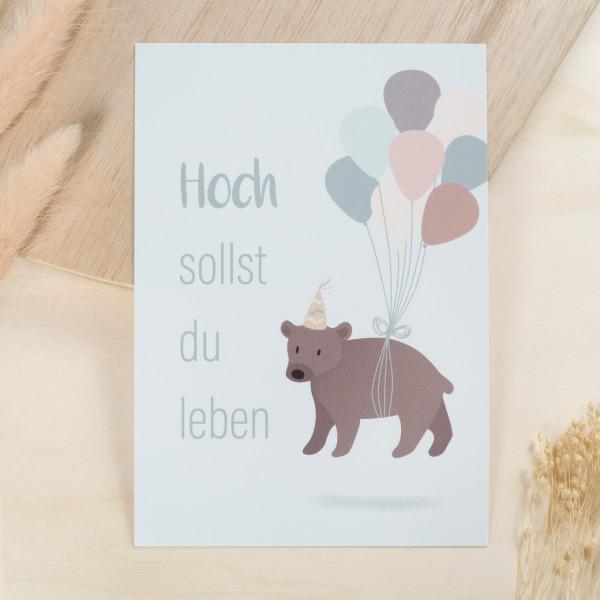 """Geburtstag Glückwunschkarte """"Hoch sollst du leben"""""""