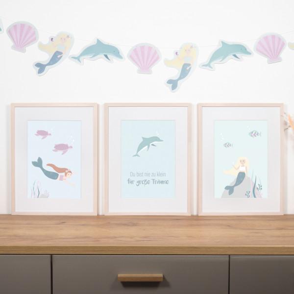 "Kinderzimmer Poster Set ""Meerjungfrau"""
