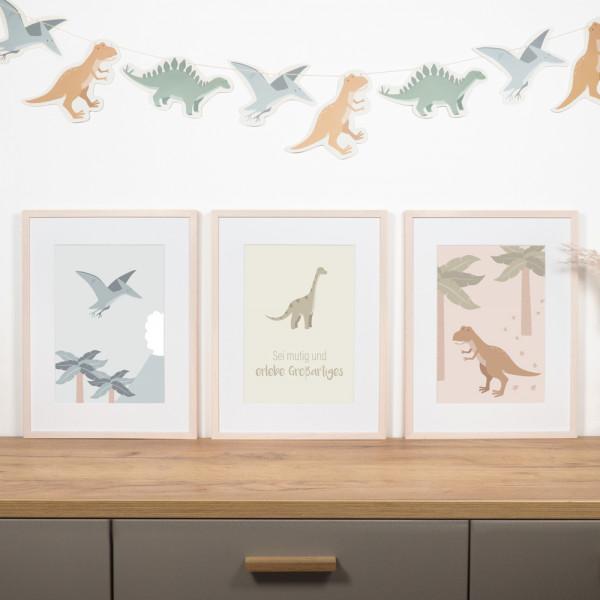 """Kinderzimmer Poster Set """"Dinosaurier"""""""