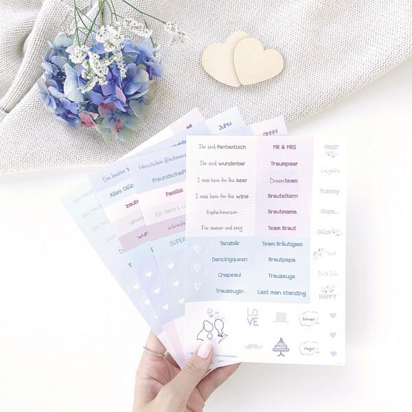 """Sticker Set """"Hochzeit"""""""
