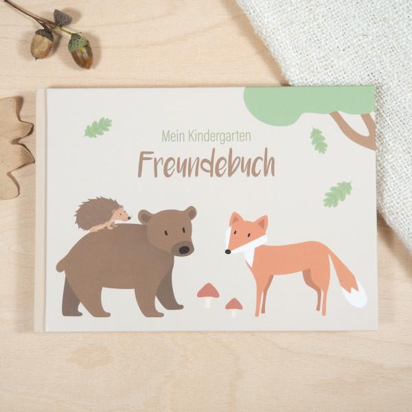 Kindergarten Freundebuch – Waldtiere