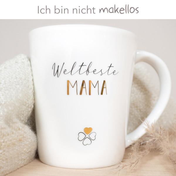 """Porzellan Becher """"Weltbeste Mama"""" B-Ware"""