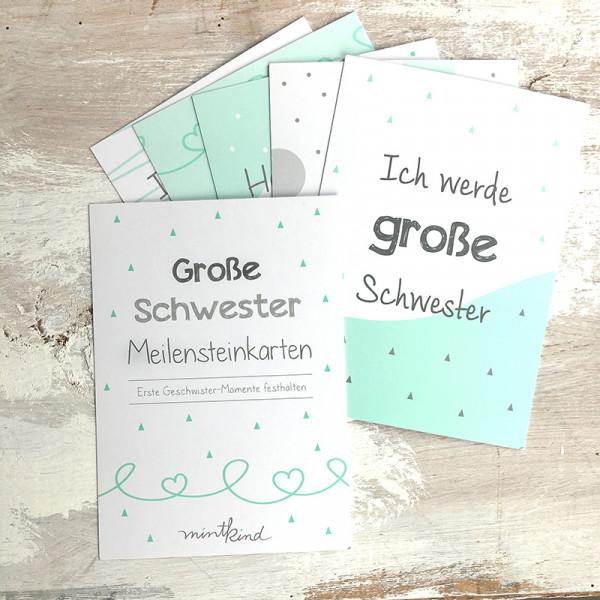"""Meilensteinkarten """"Mini-Set"""" - Große Schwester"""