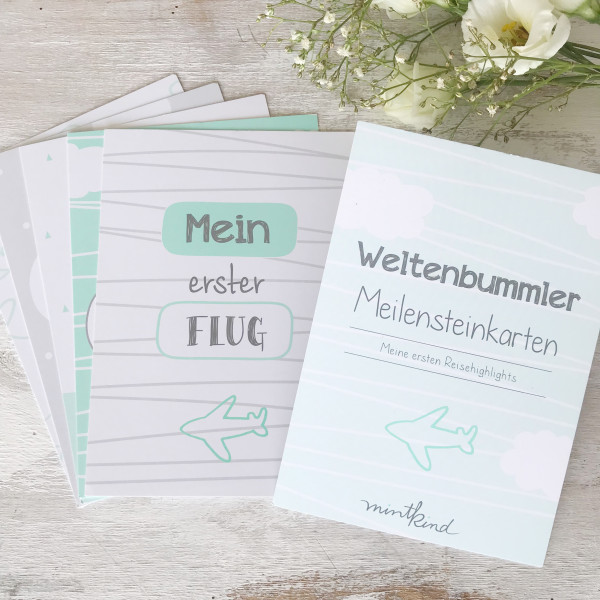 """Meilensteinkarten """"Mini-Set"""" - Weltenbummler"""