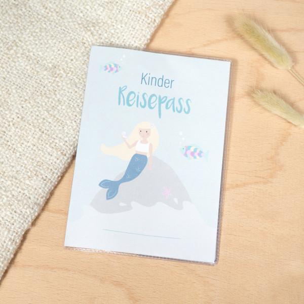 "Kinder Reisepass Hülle ""Meerjungfrau"""