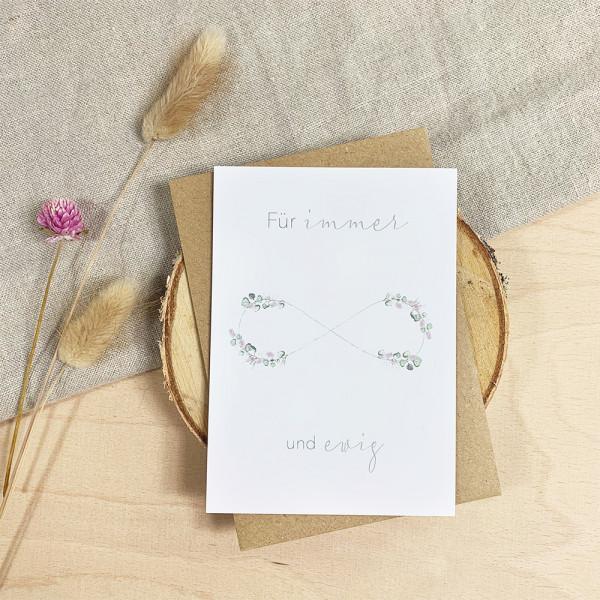 """Glückwunschkarte zur Hochzeit """"Für immer und ewig"""""""