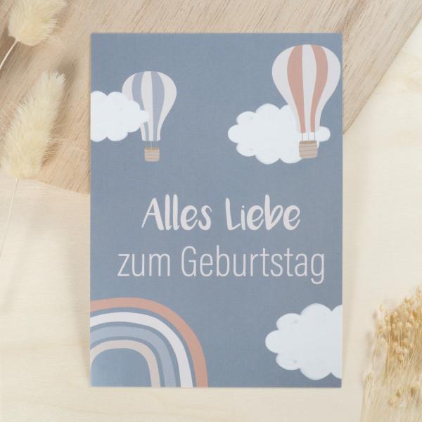 """Glückwunschkarte Kindergeburtstag """"Alles Liebe zum Geburtstag"""""""
