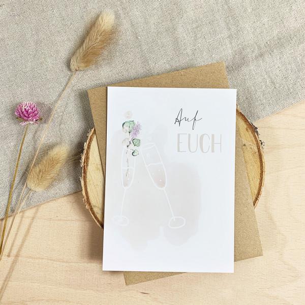 """Glückwunschkarte zur Hochzeit """"Auf Euch"""""""